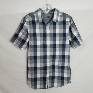The North Face Mens Small Plaid Button Down Shirt
